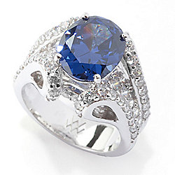 Victoria Wieck for Brilliante® 11 x 9mm Simulated Tanzanite Ring