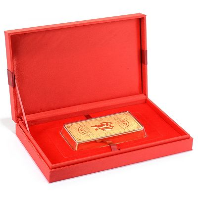 191-031 Lambert Cheng 24K Gold Fortune Choice of Weight Bar Collectible w Gift Box