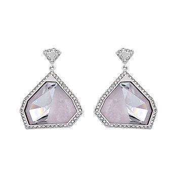 Swarovski Save Up To 30% Off - 191-569 Swarovski Architectural Pink Crystal Earrings - 191-569