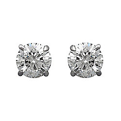Estate 14K White Gold 0.53ctw Brilliant Cut Diamond Stud Earrings - Pre-Owned