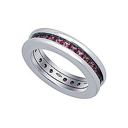 Bvlgari 18K White Gold B.Zero1 Garnet Ring, Size 5.25 - Pre-Owned