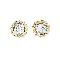 Sonia Bitton Galerie de Bijoux® 14K Gold 0.32ctw Diamond Milgrain Stud Earrings