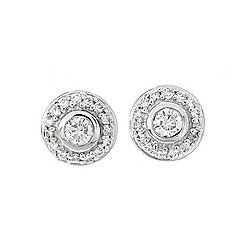 "EFFY ""Bouquet"" 14K White Gold 0.30ctw Diamond Halo Stud Earrings"
