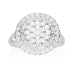 Signature Luxe 18K White Gold 1.32ctw Multi-Shape Diamond Ring - Size 7