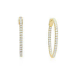 Signature Luxe 18K Gold 1.91ctw Round White Diamond Earrings
