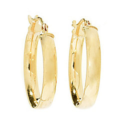 10K Gold Choice of Size Tubing Polished 3mm Hoop Earrings