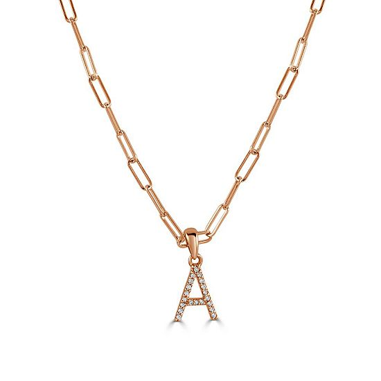 Web Exclusive Diamond Sale Up to 50% Off - 192-560 Sabrina Designs Choice of 14K Gold 18 Diamond Accented Initial Necklace