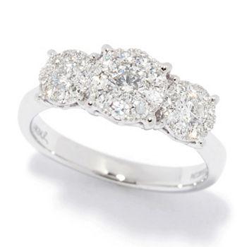 Rings - 193-466 Gems of Distinction™ 14K Gold Le Rêve 0.75ctw Diamond 3-Stone Style Ring - 193-466