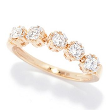Dazzling Diamonds Deals Up to 65% Off! - 193-560Sonia Bitton Galerie de Bijoux® 14K Gold 0.40ctw Diamond Milgrain Bezel Band Ring - 193-560