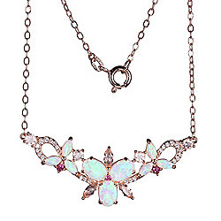 Victoria Wieck Collection Lab-Created White Opal & Multi-Gemstone Necklace