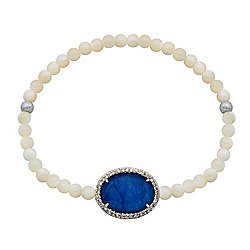 Victoria Wieck Collection Multi-Gemstone & Simulated Diamond Slip-On Bracelet