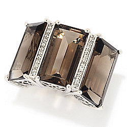 Everyday Gems of Distinction™ Resort Collection Sterling Silver 19.36ctw Smokey Quartz Ring
