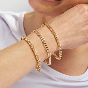 Toscana Italiana Jewelry | Up to 40% Off | 195-160 Toscana Italiana 18K Gold Plated Choice of Chain Toggle Bracelet - 195-160