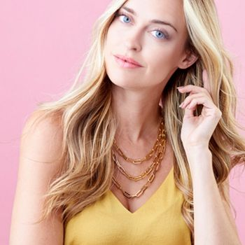 197-429 VOGA Collection 18K Gold Electroform Choice of Length Paperclip Link Necklace - 197-429