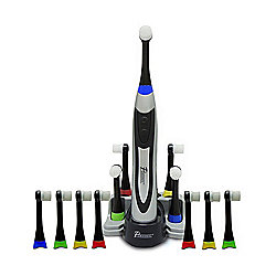 Pursonic Deluxe Plus Rechargeable Toothbrush w/ 12 Bonus Brush Heads