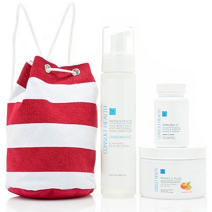 Consult Health New Must Have Kits & Bundles - 318-584 Consult Health Emergency Immune Kit w Mini Travel Duffle