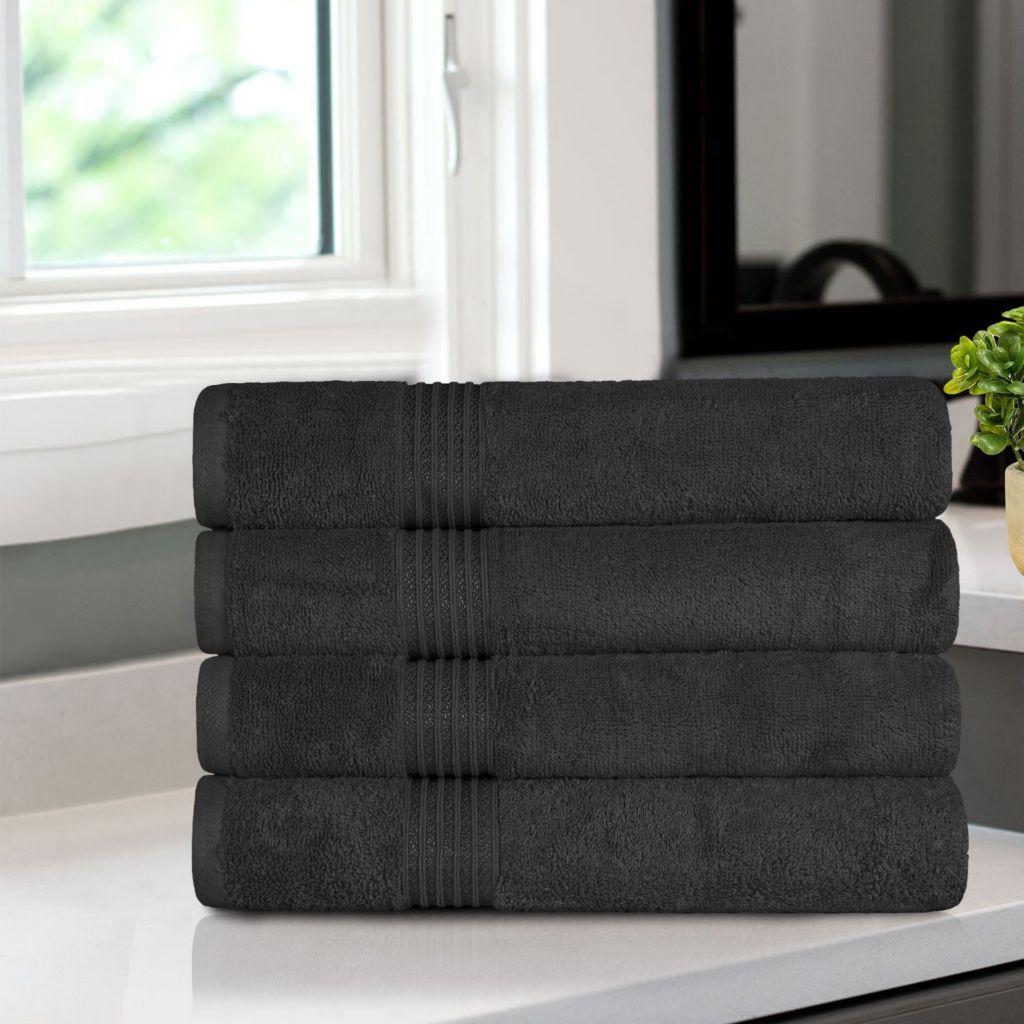 Superior 600 Gsm 100 Cotton 4 Piece Bath Towel Set Shophq