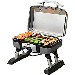 "Cuisinart 16"" Outdoor Portable Electric Grill w/ VersaStand"