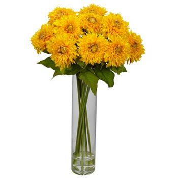 Home Last Chance On Arrangement Accents - 449-112 Nearly Natural 14 Faux Sunflower Arrangement - 449-112