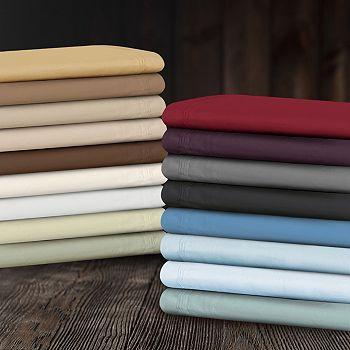451-866 Superior 650 Thread Count 100% Cotton Solid 4-Piece Sheet Set - 451-866