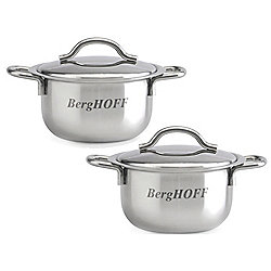 BergHOFF Set of Two Stainless Steel Mini Sauce Pots