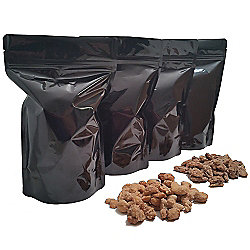 Waggoner Chocolates Premium 4-Pack (3 lbs) Frosted Pecans & Cashews in Resealable Gift Bags