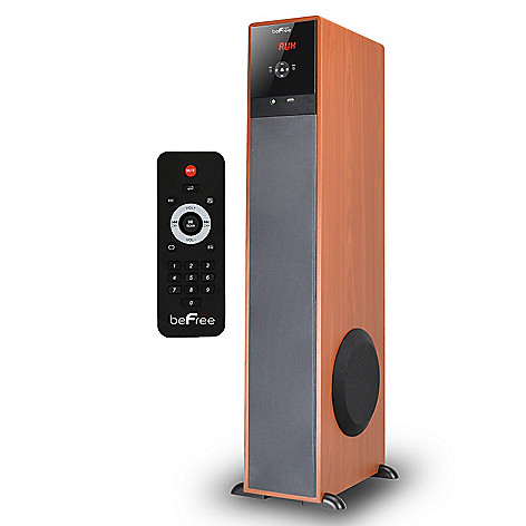 Befree Sound 2 Channel Bluetooth Powered Tower Speaker W Wood Panel Accents Shophq