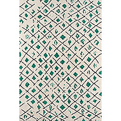 "The Novogratz ""Bungalow"" Green & Cream Rug"