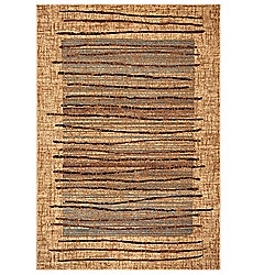 Rizzy Home Bellevue Choice of Size Power-Loomed Beige Abstract Rug