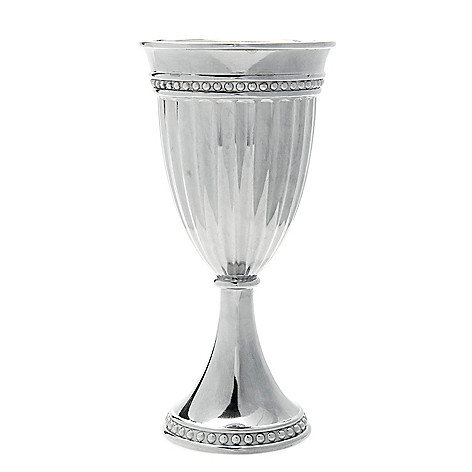 Wilton Armetale Flutes Pearls 8 Oz Footed Goblet Shophq