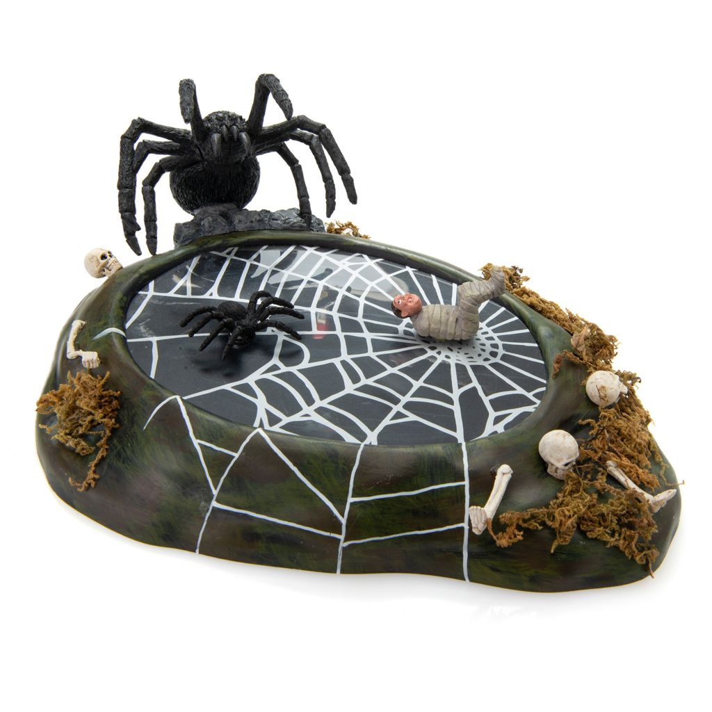 Department 56 Halloween Animated Nightmare #4057615 Spider Moves FREE SHIPPING