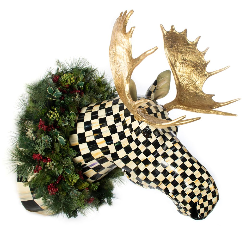 Store Displayed Only MACKENZIE-CHILDS Shimmering Moose Ornament