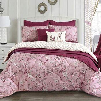 Best of Bedding Featuring Cozelle & More - 480-038 Cozelle® Belle du Jour Microluxe™ All Season Reversible 3-Piece Comforter Set - 480-038