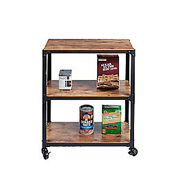 "Mind Reader (29.75"") 3-Shelf All-Purpose Rolling Utility Cart"