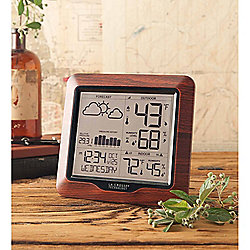 "Wind & Weather 7"" ""La Crosse"" Wooden Trim Wireless Weather Station"
