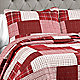 Red quilt set detail