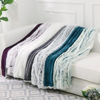 Living Room Textile Sale Up To 75% Off - 481-808 Cheer Collection 50 x 60 Faux Fur Throw - 481-808