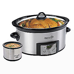Crock-Pot 6 qt Countdown Digital Control Slow Cooker & 16 oz Little Dipper Food Warmer