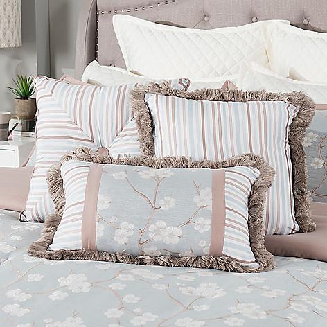 Grand Suites Cherry Blossom 3 Piece Decorative Pillow Set Shophq