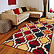 Red / Blue rug in your home