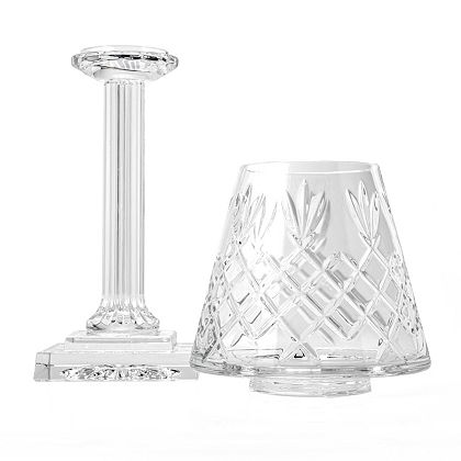 484-997 - Waterford Crystal 16 Hand-Finished Elegant Shaded Candlestick