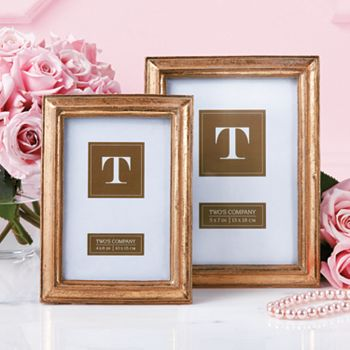 Free Shipping Under $50  Up To 60% Off - 485-265 Passport Collection Set of 2 Gold-tone Leaf Photo Frames - 485-265
