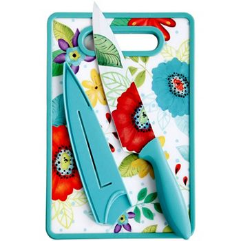 Kitchen Tools Up to 50% Off For The Cook Who Has Everything 485-575 Studio California Jordana 8 Chef Knife w Sheath & Cutting Board - 485-575
