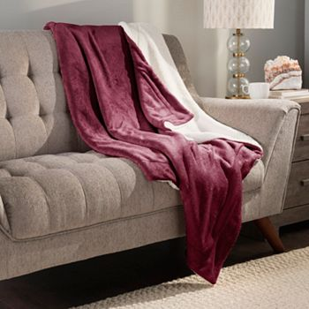 Home Holiday Gifting Give The Best This Season - 486-631 Cozelle® 60 x 50 Reversible Plush Sherpa Knit Throw - 486-631