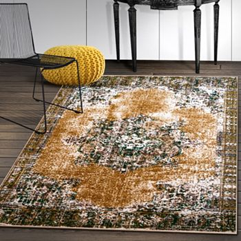 487-090 Superior Kessler Oriental Moth-Proof Non-Slip Rubber Backing Choice of Size Area Rug - 487-090