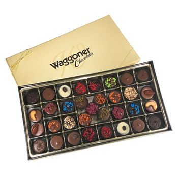 Waggoner Chocolates Be Prepared This Valentine's Day  - 487-414 Waggoner Chocolates 12.25 oz Assorted Gourmet Designer Cup Gift Box - 487-414