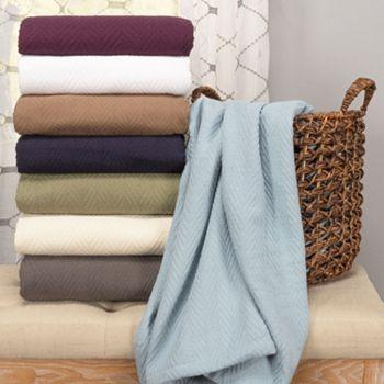 487-567 Superior 100% Cotton Chevron All-Season Ultra-Plush Breathable Blanket - 487-567