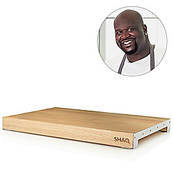 "SHAQ 12"" x 18"" XL Raised Solid Wood Cutting Board w/Non-slip Base"