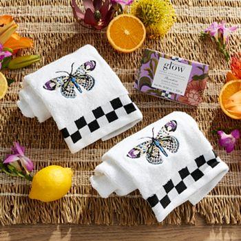 Glow Home Apothecary 491-363 Glow Home Apothecary by MacKenzie-Childs Set of 2 Fingertip Towels & Bar Soap - 491-363