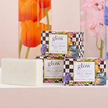Glow Home Apothecary 491-364 Glow Home Apothecary by MacKenzie-Childs Set of 4 Large Bars of Soap Choice of Scent - 491-364